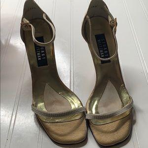 Stuart Weitzman Gold Heels - Sz 8.5